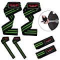 ZOR Power Hand Bar Straps Weight Lifting Straps Cotton Webbing Wrist Wraps Strengthen Training Workout Exercise Fitness Straps by XXR