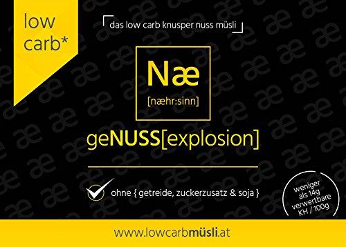 geNUSS[explosion] Low Carb Knusper Nuss Müsli 375g - 3