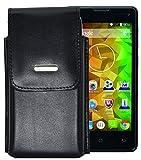 Vertikal Etui für / MEDION LIFE E4503 (MD 99476) / Köcher Tasche Hülle Ledertasche Vertical Case Handytasche mit einer Gürtelschlaufe auf der Rückseite