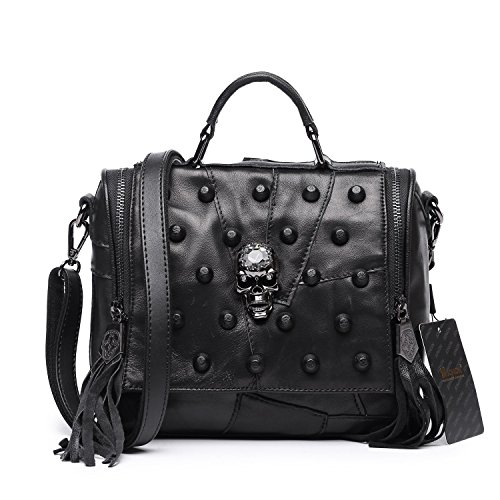 jonon-womens-genuine-leather-sheepskin-studded-skull-shoulder-bag-crossbody-bag