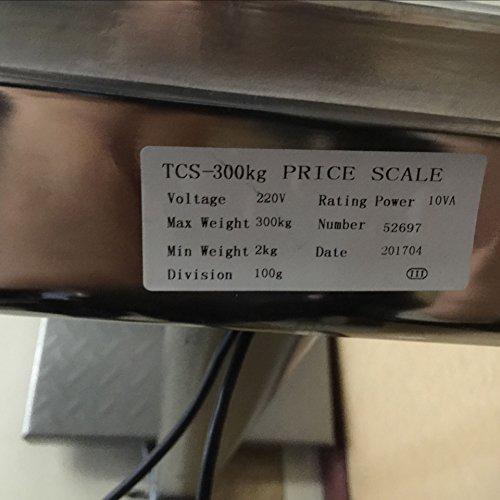 BILANCIA DIGITALE 300 KG A PIATTAFORMA ELETTRONICA DISPLAY LCD RETROILLUMINATO DIGITALE INDUSTRIALE PIEGHEVOLE *BILANCIATCS300K* - 8