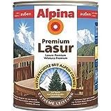 ALPINA Premium Lasur, 4 L. Holz Dickschichtlasur außen, Nussbaum
