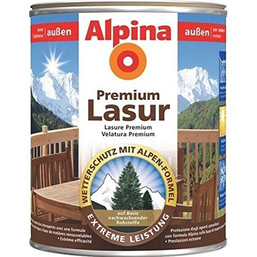 ALPINA Premium Lasur, 2,5 L. Holz Dickschichtlasur außen, Nussbaum