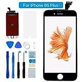 """Flylinktech iPhone 6S Plus Display Schwarz LCD Touchscreen Digitizer Ersatz Bildschirm Front Komplettes Glas mit Werkzeuge Für iPhone 6S Plus Schwarz 5.5"""" (iPhone 6S Plus, Schwarz)"""