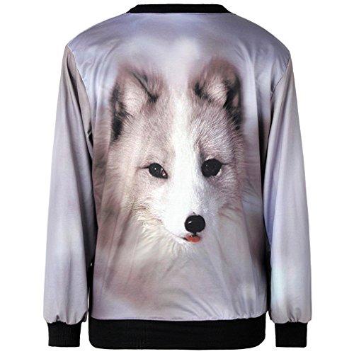 THENICE Women'Pullover Sweatershirts Digital Print Puppy