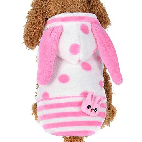 KanLin Pet Dog Coral Velvet Cute Rabbit Dog Costumes Hoodie Coats Pet Clothes (L, (Affe Socke Amazon Kostüm)
