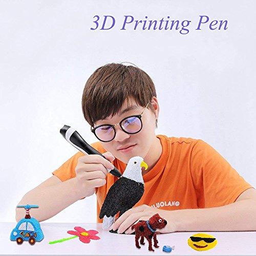 3D Stift mit 12 Farben PLA Filament Minen 3D Zeichnung Druck Stift Bonus 18 Farben 120 Füße PLA 250 Schablonen eBooks für Kinder Erwachsene Kunsthandwerk DIY - 7