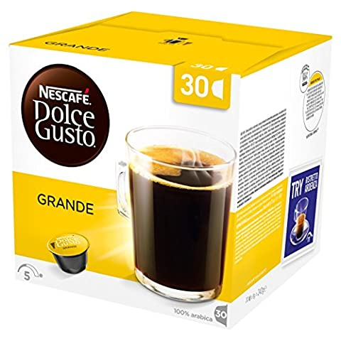 Nescafé Dolce Gusto Grande, Café Crème, Espresso, boissons, Box, 3x 30capsules