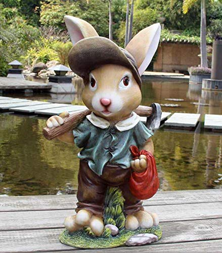 Design 4 Zwerg Hase 91102-4 XXL 45 cm Hoch Deko Garten Gartenzwerg Figuren Dekoration verschiedene Design - 2
