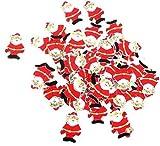 Romote 30pcs Detalles Colgantes Decoraciones de Navidad de la Descripción Detallada © decoración de Madera de Papá Noel s