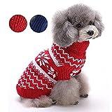 Systond Hund Weihnachten Kleid Haustier Kostüm Katze Weihnachten Kleidung Bekleidung Welpen Mantel Doggy Weihnachten Kleid Overall mit niedlichen Haube für kleine mittlere große Hunde Costume03