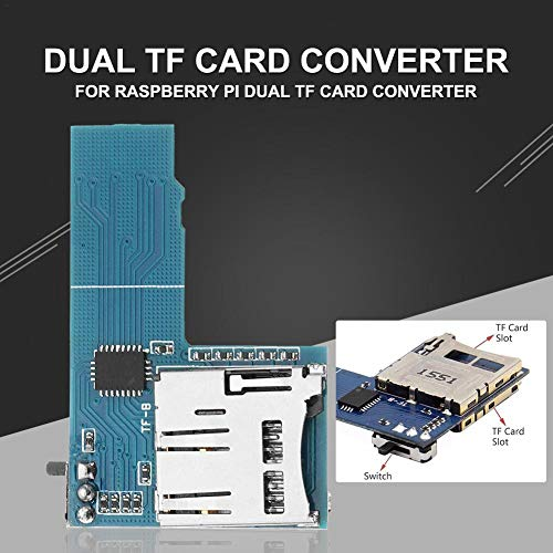 F-dujin Adaptador De Tarjeta Tarjeta De Memoria Convertidor 3B Plus 3B 2B  2B Plus para Raspberry Pi 3 Dual System Dual TF