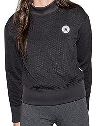 Converse Women's Reflective Shield Lycra Sweatshirt Dark Grey- Various Sizes