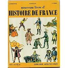 Nouveau livre d'histoire de France CE1 CE2