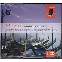 Mozart Messen & Kantaten Krönungsmesse - Credo Messe KV 257 - Te Deum KV. 141 Waisenhausmesse KV. 139 3er CD Box