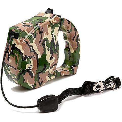Productos para mascotas correa retráctil para perros mascota perro ajustable correas,Camo Stripe,5m de cuerda redonda 40Kg.