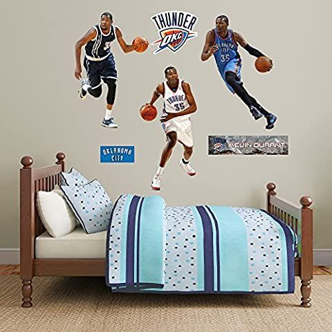 NBA Oklahoma City Thunder Kevin Durant Hero Pack Fathead Real Big Decals, 4'4 x 3'3 by Fathead Peel and Stick Decals