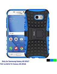 Funda Samsung Galaxy A5 2017, Cáscara Galaxy A5 2017 , Fetrim soporte Proteccion Cáscara Cases delgada de golpes Doble Capa de Tough silicona TPU + plastico Anti Arañazos de Protectora para Samsung Galaxy A5 2017 - Azul