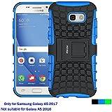 Coque Samsung Galaxy A5 2017, Fetrim armure Support TPU Silicone + Plastique Protection Étui,anti chocs Bumper Hybride protection Housse Cover pour Samsung Galaxy A5 2017 - Bleu