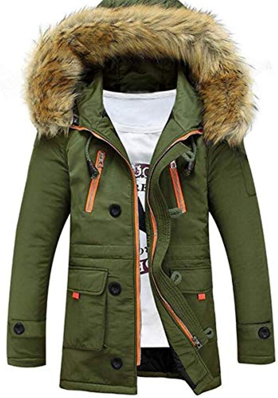 BOLAWOO Cappotto Esterno Invernale da Uomo Cappotto Invernale in Cotone  Esterno Cappotto Cappuccio con Cappotto Cappotto 318005025d8