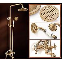 SADASD Unión Cobre baño Ducha Grifo rociador antigüedades Conjunto montado en la Pared, la Ducha