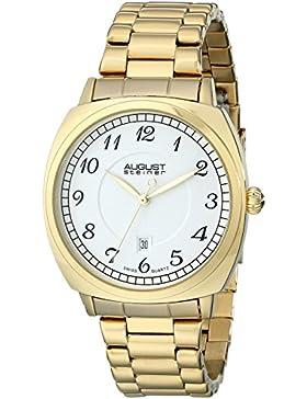 AUGUST STEINER Herren-Armbanduhr Analog Edelstahl Gold AS8160YG