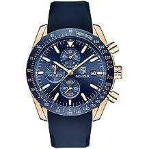 Relojes de los hombres, negocio de la moda de lujo de silicona informal fecha BENYAR