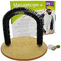 BigBuddies Fellpflegebogen, Enthaarungsbogen, Massagebogen für Katzen inkl. Katzenminze