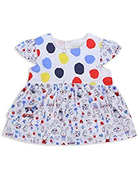 The Essential One - Baby Kinder Mädchen Bluse - WeiB/Rot/Gelb/Blau - EOT272