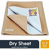 Bey Bee Waterproof Bed Protector Baby Dry Sheet, Medium, Beige (100 Cm X 70 Cm)