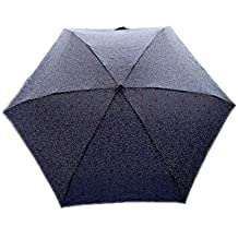 ZPFME La Moda De Protección UV A Prueba De Viento Mini Paraguas Plegable Portátil,Blue