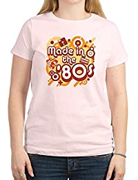CafePress - Made In The 80s Women's Light T-Shirt - Womens Crew Neck Cotton T-Shirt, Comfortable & Soft Classic Tee
