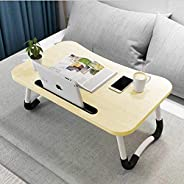 Hossejoy Foldable Laptop Table, Portable Standing Bed Desk, Breakfast Serving Bed Tray, Notebook Computer Stan