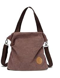 323282ff0647 Myhozee Women Handbag shoulder Bag Canvas-Vintage Hobo Top Handle Shopping Crossbody  Bag Tote Travel