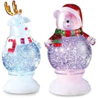 Insieme della decorazione di Natale LED illuminazione di orso polare lampada NATALE renna lampada RGB effetto