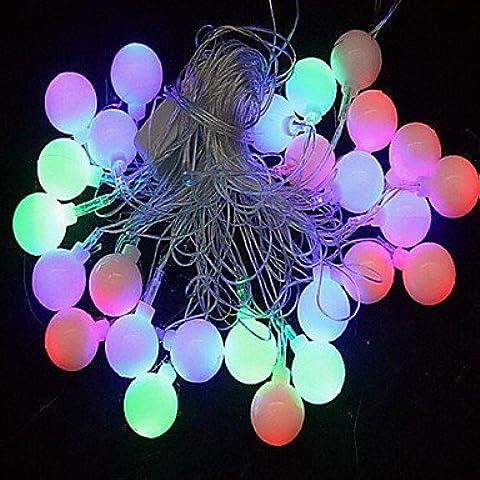 JRZ Navidad bolas de molienda 4.5m 28 llev¨® las luces de colores de cuerdas