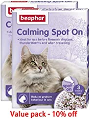 Cat calming spray alleviate destructive behavior Beaphar CALMING SPOT ON CAT Value pack of 2 pcs