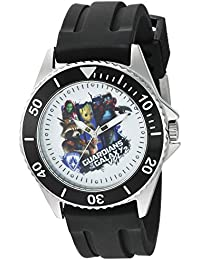 Marvel Men's 'Guardian' Quartz Stainless Steel and Rubber Casual Watch, Color:Black (Model: WMA000100)