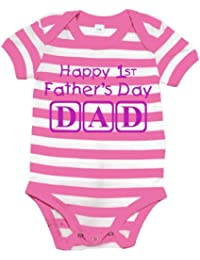 Happy 1ST Fathers Day Dad con Mangas para bebé Body de/Pijama