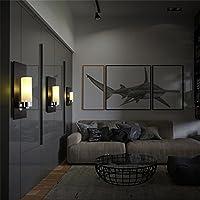 illuminazione romantica scandinavo moderno e minimalista creativo marmo artificiale parete candela (Candele Sconce)