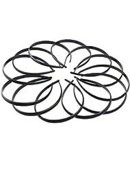 Tinksky Kunststoff DIY Haarreif Haarband Stirnband Haarschmuck Für Frauen-Mädchen-12St (schwarz)