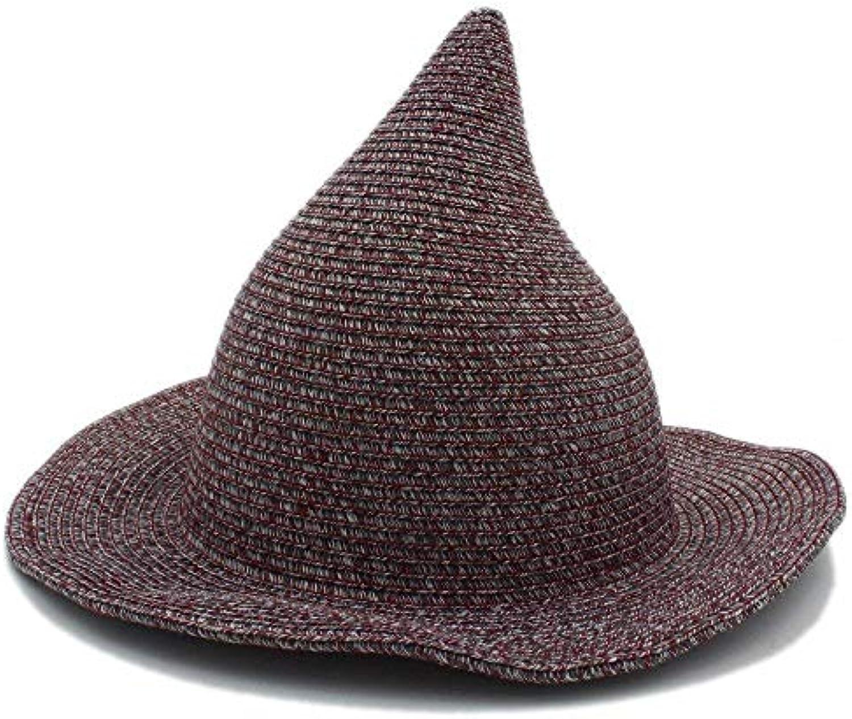 Qsoleil Cappello Uomo Comodo Moda Donna Uomo Cappello Gandalf Witch Wizard  Cosplay Carnevale di Halloween Intrecciato Cappello... Parent ebf01c 00fd240ba9e6