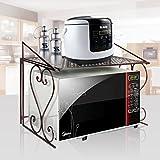 AISHN Metales Horno de microondas estante De Almacenamiento para Almacenamiento de cocina (marrón)