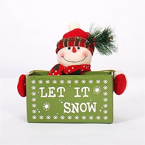 Serie de Navidad gracioso Novedad Decoración juguetes blandos regalos:Navidad Navidad muñecos y 23cm Santa Muñeco de Nieve Navidad Portalápices Doll muñecas adornos de escritorio muñeco de nieve/200G