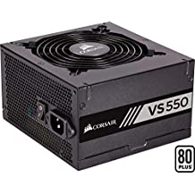 Corsair VS550 - Fuente de alimentación (550 Watts, PFC Activo, 80 Plus) Color Negro CP-9020171-EU