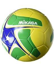 Mikasa Fußball SCE501 Fuß und Footvolleyball, Gelb/Grün/Blau/Weiß, 5, 1302