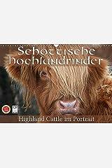 Schottische Hochlandrinder - Highland Cattle im Portrait (Wandkalender 2017 DIN A3 quer): Schottische Hochandrinder, die Rinderrasse die auf der ... (Monatskalender, 14 Seiten ) (CALVENDO Tiere) Kalender