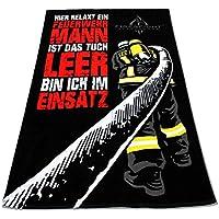 HIER RELAXT EIN FEUERWEHRMANN Oversize Frottee Feuerwehr Sauna Strand und Badetuch