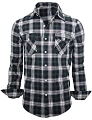 Luxe élégant hommes occasionnels mince amincissent les belles chemises à carreaux robe Top Slim collection maillot de Fit
