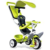 Smoby Toys- 741100- Tricycle Baby Balade 2, Tricycle Evolutif avec roues silencieuses, Dispositif roue libre, Vert